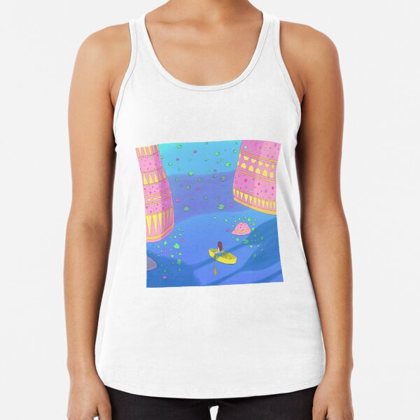 Traveling to unknown places Racerback Tank Top