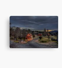 Dusk in Hill End. Canvas Print