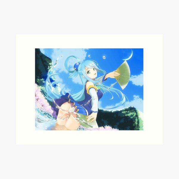 Funny Aqua Konosuba Anime Girl Art Print By Slinkraz Redbubble