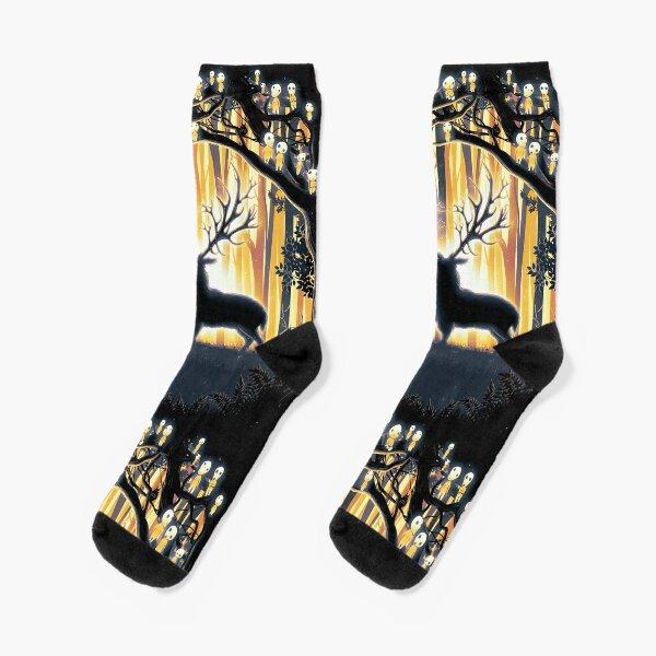 Deer God Master of the Forest Socks