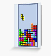 Old School Tetris Greeting Card