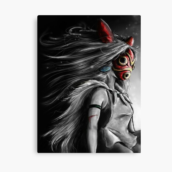 Fury of the Princess Anime Digital Painting Canvas Print