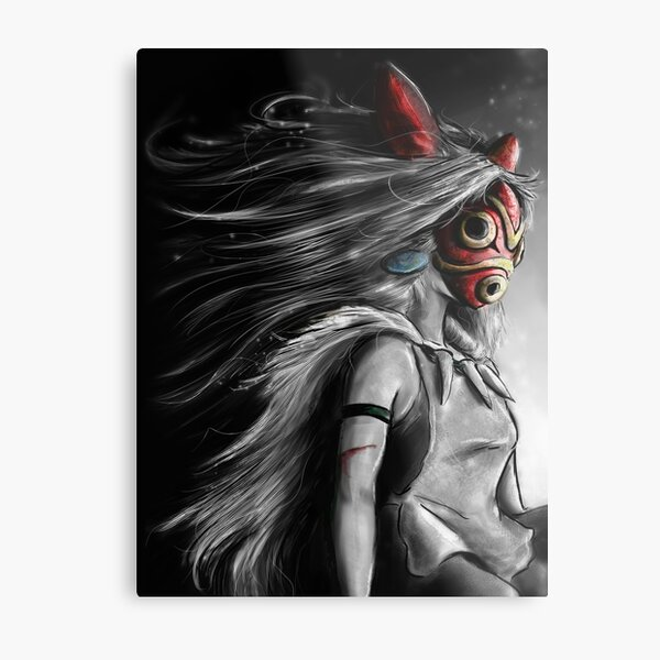 Fury of the Princess Anime Digital Painting Metal Print