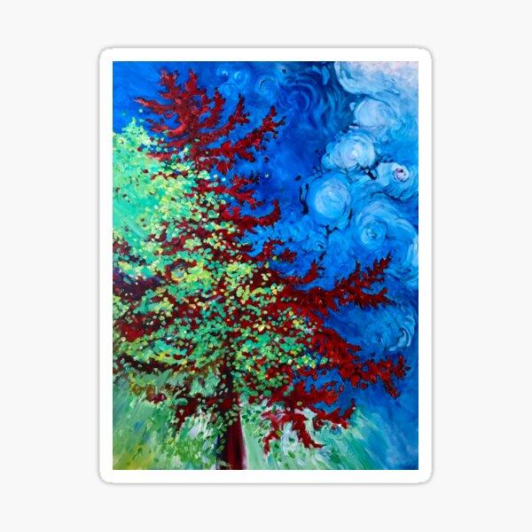 Crimson Pine Sticker