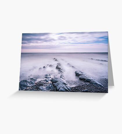 Sea whispers ~ Welcombe Mouth, Devon, UK Greeting Card