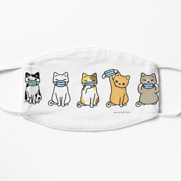 Kitties with Masks II Flat Mask