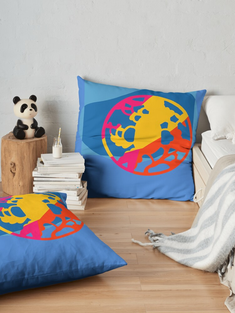 Alternate view of  Colorful Abstract Geometric Art Floor Pillow