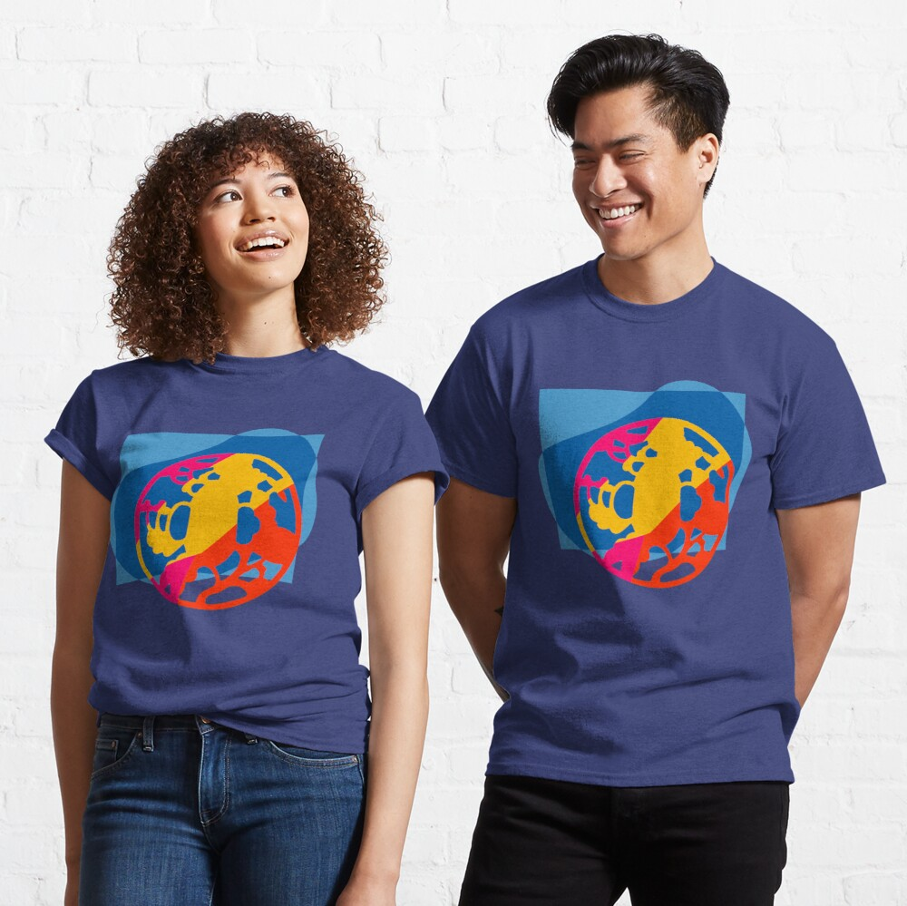 Colorful Abstract Geometric Art Classic T-Shirt