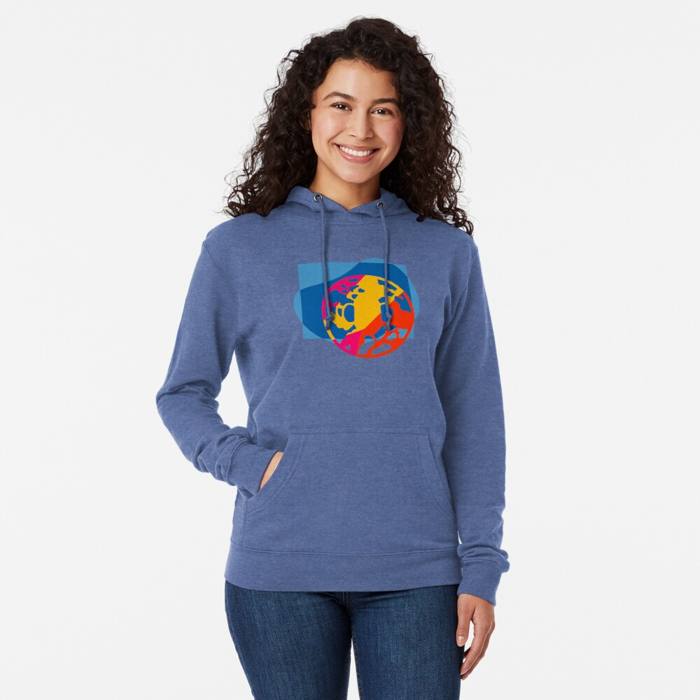 Colorful Abstract Geometric Art Lightweight Hoodie