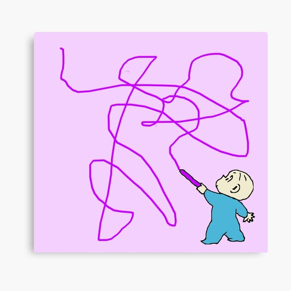 Harold and the purple crayon Canvas Print