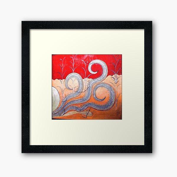 Minoan Octopus Fresco Framed Art Print