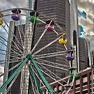 Ferris Wheel at Detroit River Days by Tina Logan