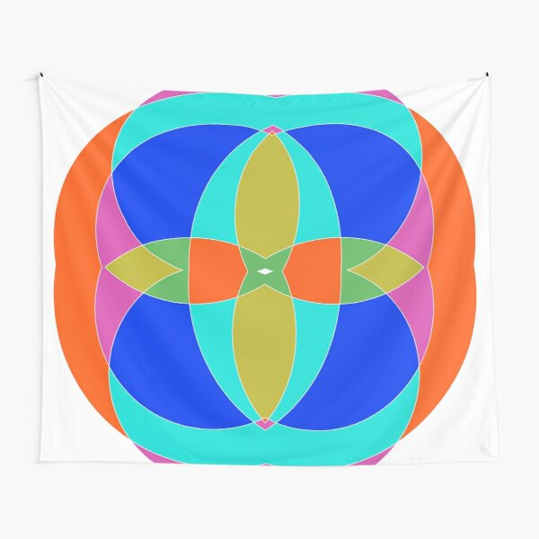 Circle, 2D shape Tapestry