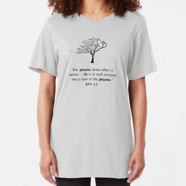 John 3:8 Slim Fit T-Shirt
