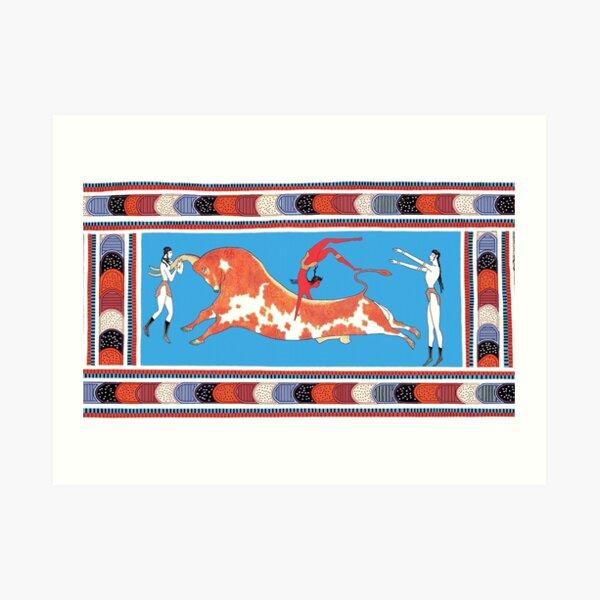 Minoan Bull Leaping Toreador Fresco Restoration Art Print