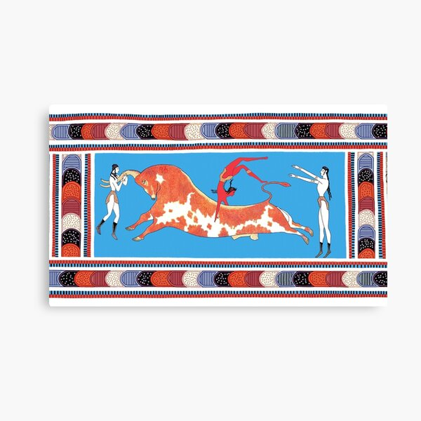 Minoan Bull Leaping Toreador Fresco Restoration Canvas Print