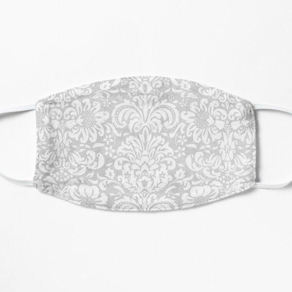 Vintage White & Grey Damask Flat Mask
