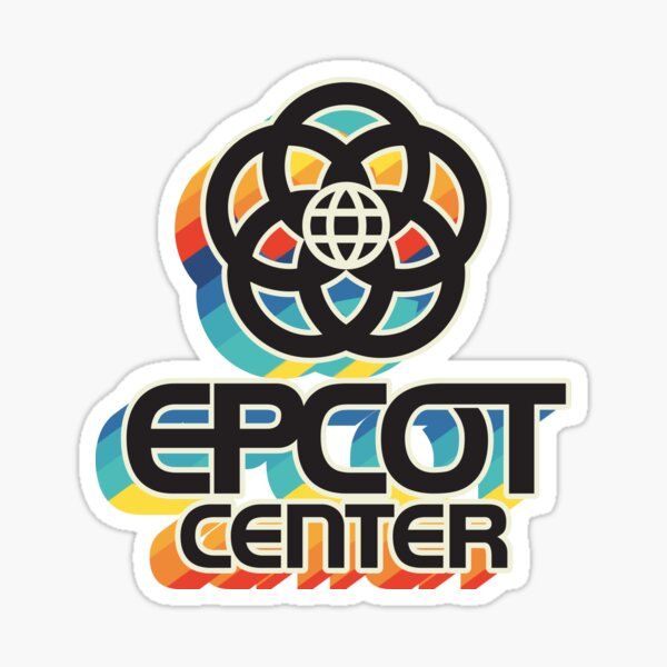 EPCOT Center BLK rainbow Sticker