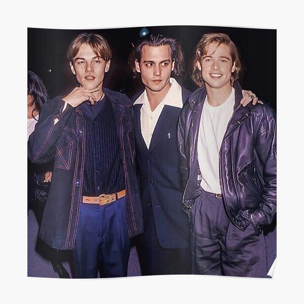 Leonardo Dicaprio, Brad Pitt et Johnny Depp Poster