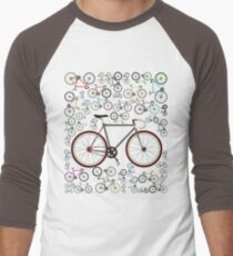 Love Fixie Road Bike Men's Baseball ¾ T-Shirt