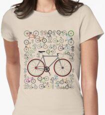 Love Fixie Road Bike Women's Fitted T-Shirt