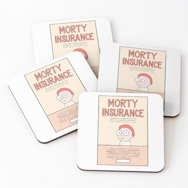 Morty Insurance Flier Coasters (Set of 4)