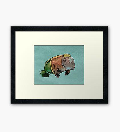 Aquamanatee Framed Print