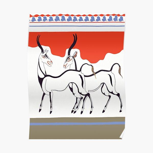 Minoan Antelope Fresco Restoration Poster