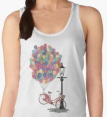 Love to Ride my Bike with Balloons even if it's not practical. Women's Tank Top