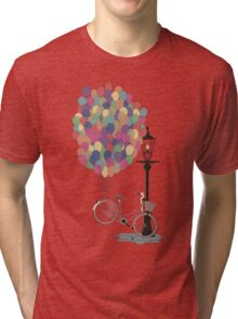 Love to Ride my Bike with Balloons even if it's not practical. Tri-blend T-Shirt