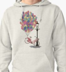 Love to Ride my Bike with Balloons even if it's not practical. Pullover Hoodie