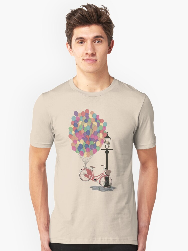 Love to Ride my Bike with Balloons even if it's not practical. Unisex T-Shirt Front