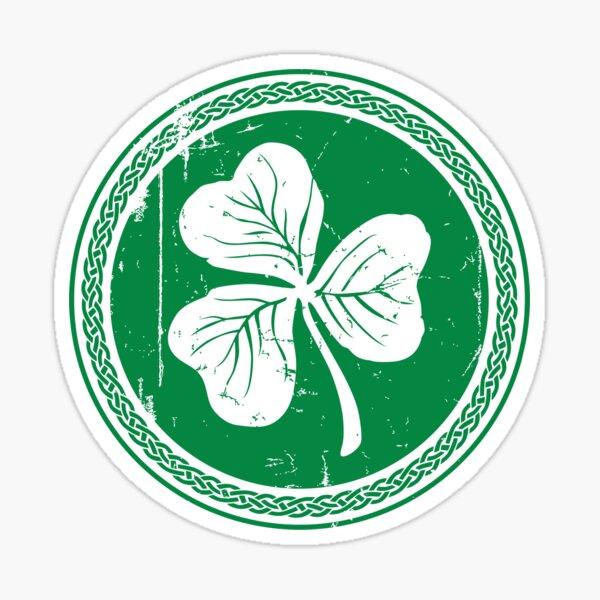 Trèfle et tresse - vert foncé Sticker