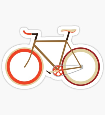 Bike ~ Fixie Warm Fall Colors Sticker