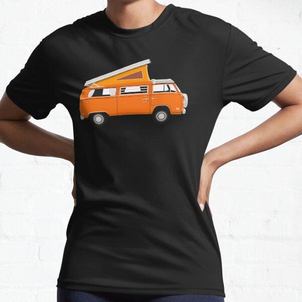 VW Westfalia Van - Orange Active T-Shirt