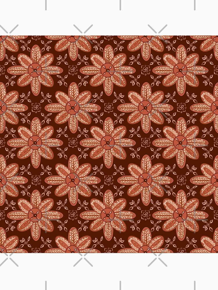 Indian Flower Pattern - Brown by adarovai