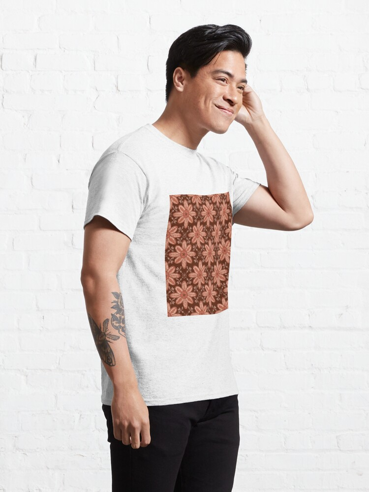 Alternate view of Indian Flower Pattern - Brown Classic T-Shirt