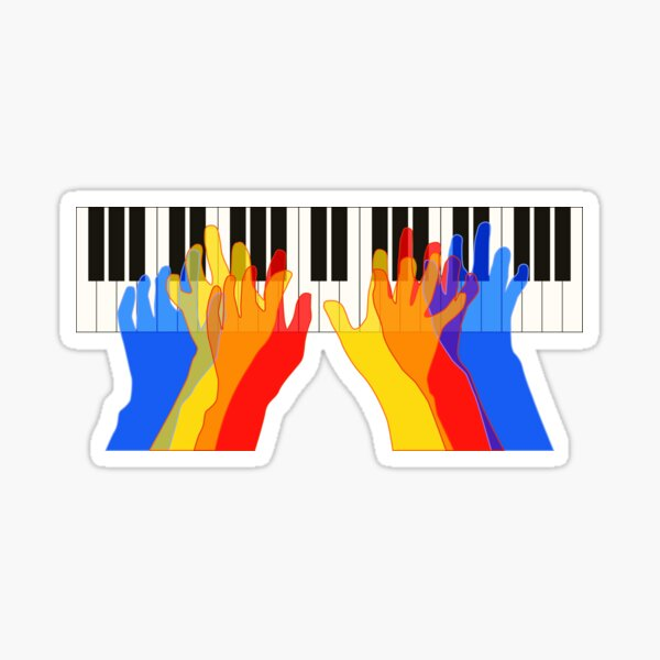 Piano Keyboard Pianist Piano Player Graphic Sticker