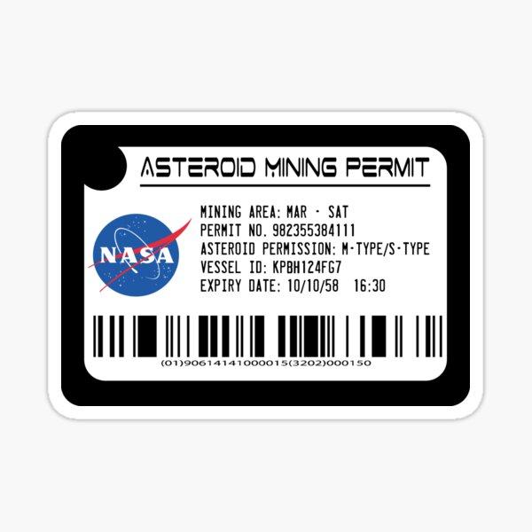 Asteroid Mining Permit Sticker