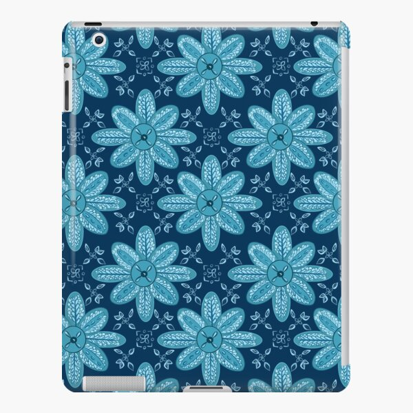 Indian Flower Pattern - Blue iPad Snap Case