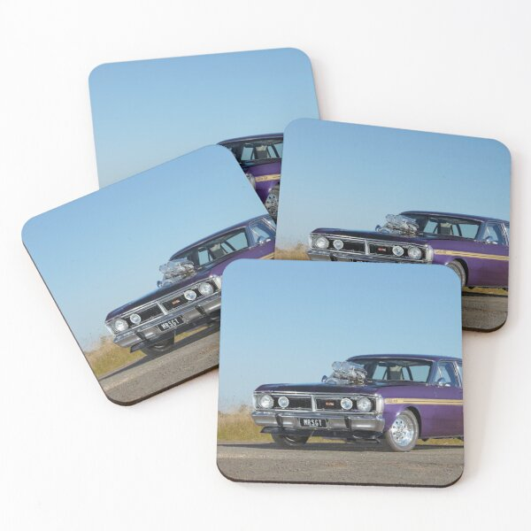 Supercharged 1970 Wild Violet Ford Falcon XY Coasters (Set of 4)