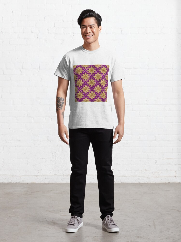 Alternate view of Indian Flower Pattern - Purple  Classic T-Shirt