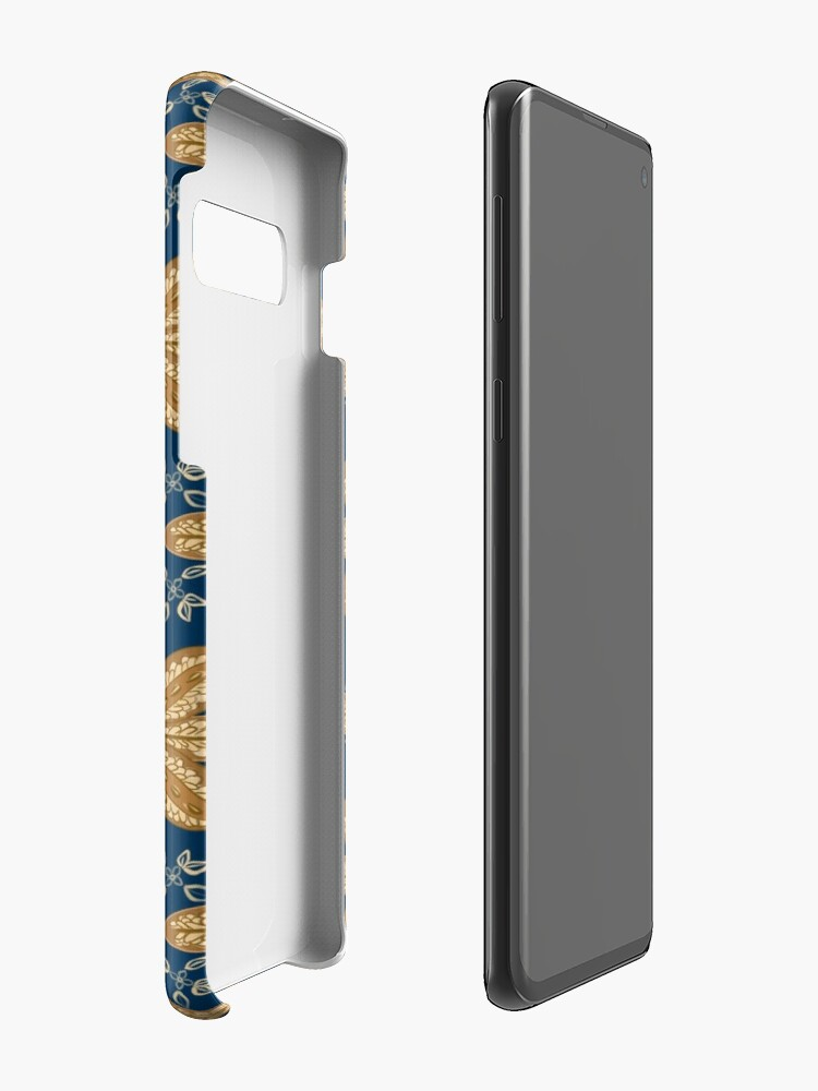 Alternate view of Indian Flower Pattern - Blue Case & Skin for Samsung Galaxy