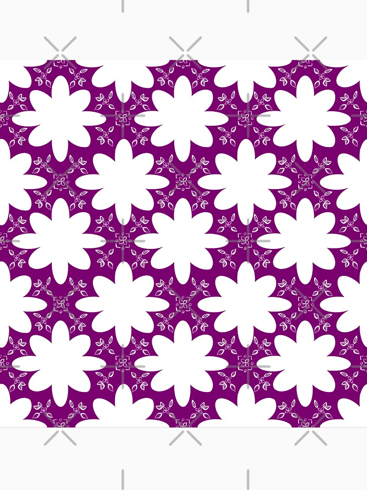 Minimalist Indian Flower Pattern - Purple by adarovai