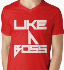 "Snoboy ""Like A Boss"" Mens V-Neck T-Shirt"