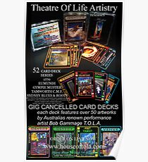 GIG CANCELLED - card deck art Poster