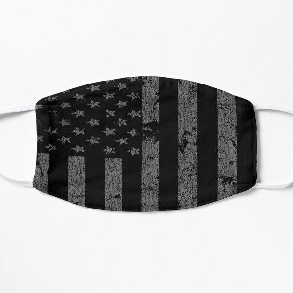 Black Distressed American Flag Patriotic Stars And Stripes Mask