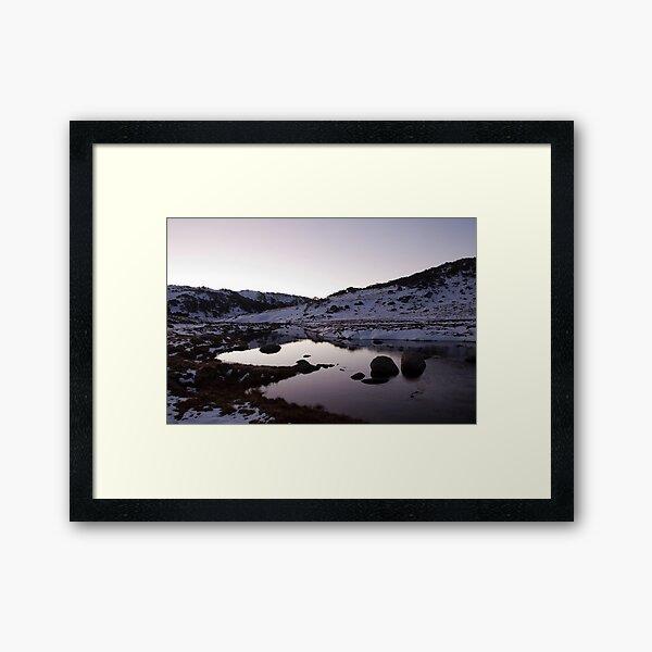Spencers Creek - Winter Dusk 03 Framed Art Print