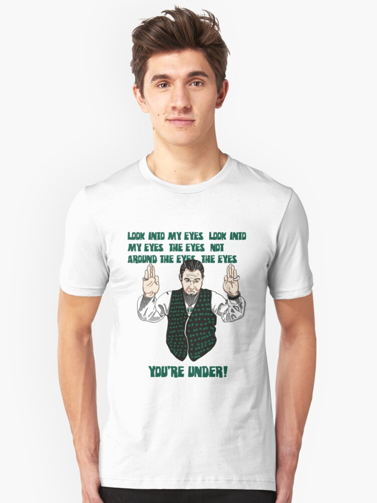 3, 2, 1, and you're Back in the Room. Unisex T-Shirt Front