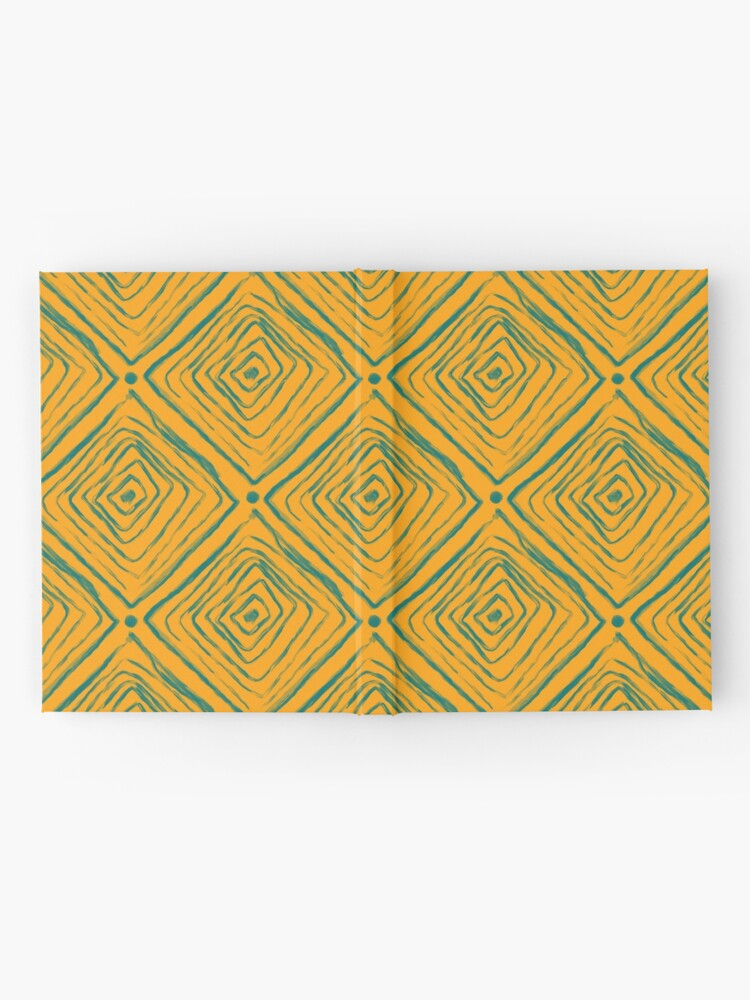 Alternate view of Indigenous Brazilian Pattern - Green and Yellow Hardcover Journal